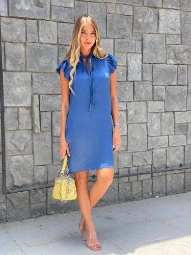 שמלת ברצלונה כחול THOMAS