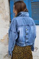 ג'קט ג'ינס אשטון כפתורים כחול משופשף