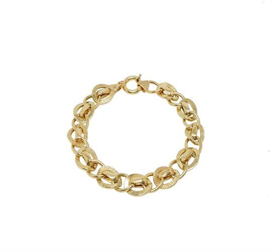 צמיד זהב חוליות 14קרט לאישה