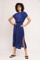 שמלת NAM - פליסה כחול מלכותי