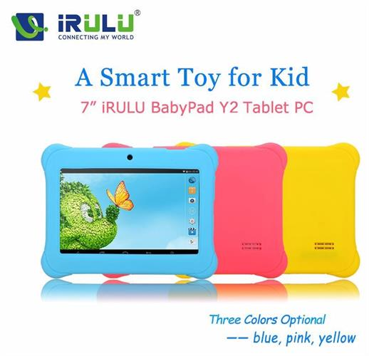 מחשב טאבלט iRULU Y2 7'' מיוחד לילדים מעבד 4 ליבות כיסוי מתנה