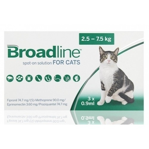 """ברודליין לחתול במשקל 2.5-7.5 ק""""ג"""