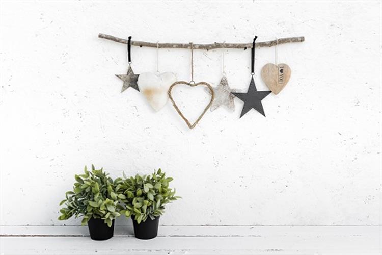 ענף מיקס עם כוכבים ולבבות - 6 יח'