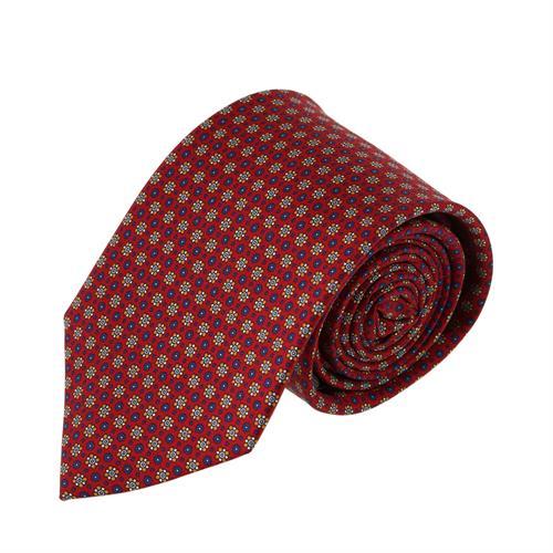 עניבה פרחים זעירים אדום יין