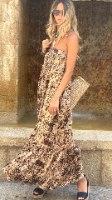 שמלת מקסי סטרפלס