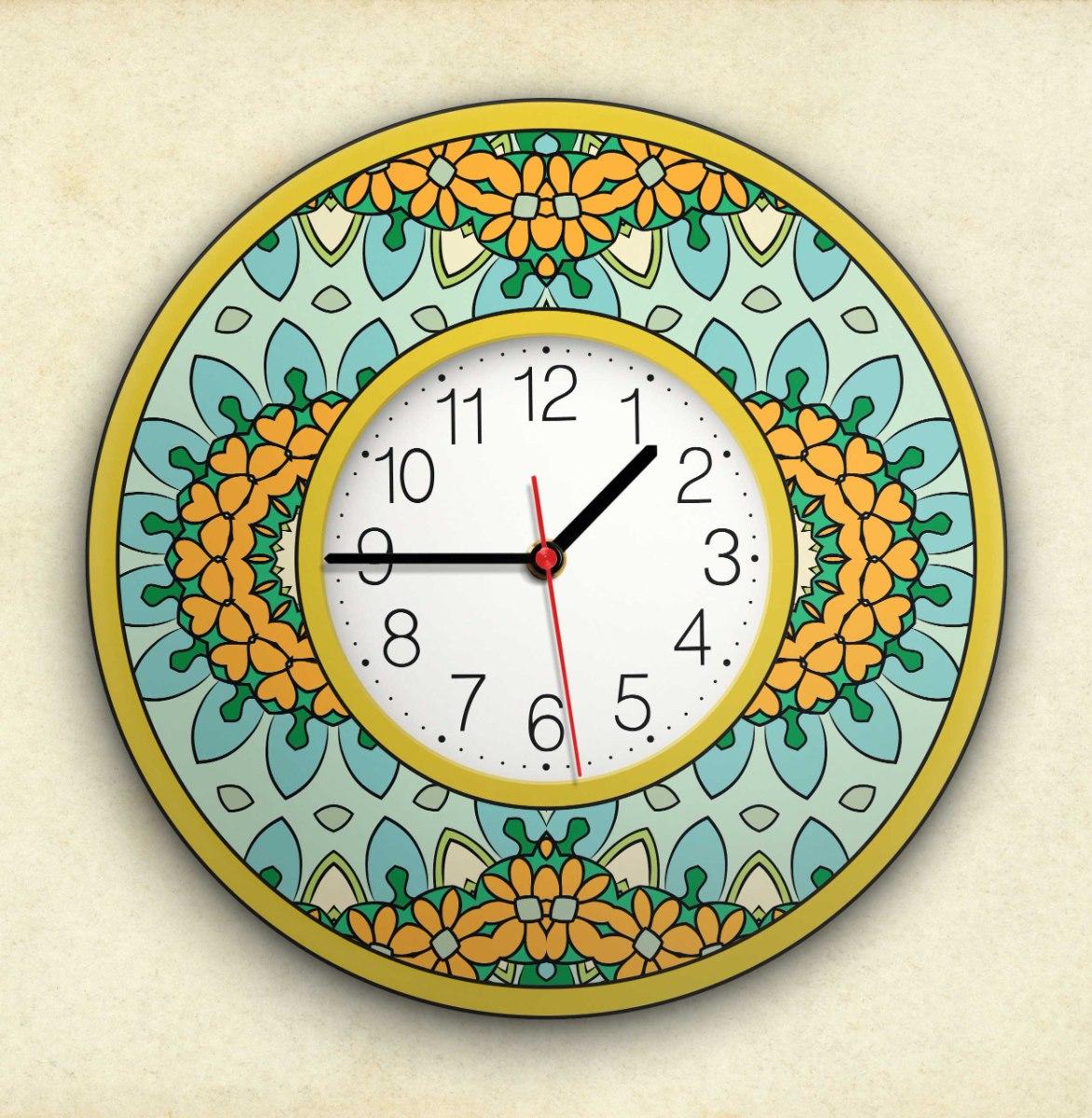 שעון קיר מעוצב, זכוכית אקרילית, דגם 2032  TIVA DESIGN