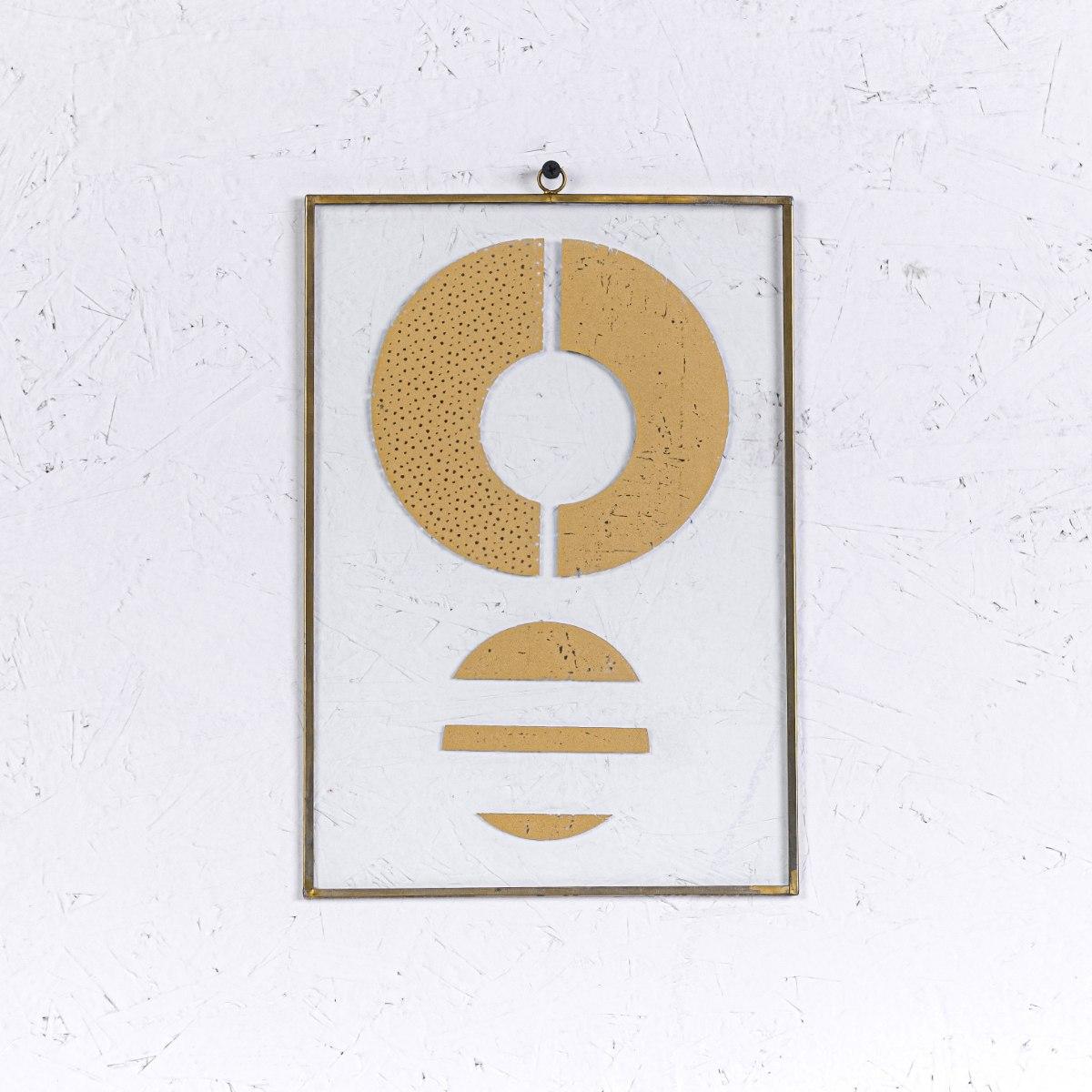 שלט זכוכית A4 עיגולים - זהב
