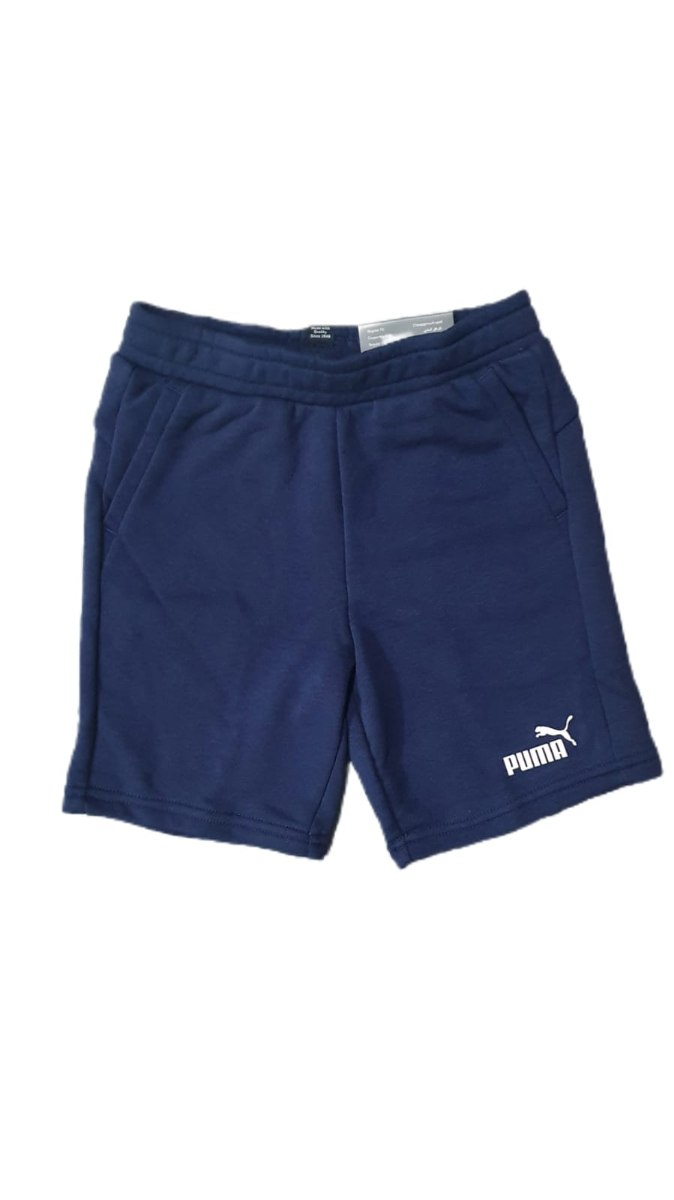 שורט PUMA כחול לוגו קטן (2-16)