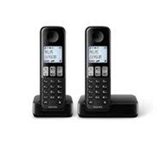 טלפון אלחוטי שתי שלוחות פיליפס PHILIPS D2302B