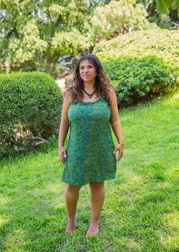 שמלת קשירה חוף ירוק