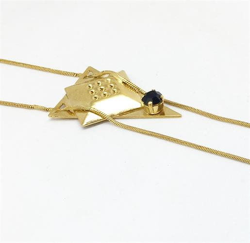 שרשרת קריסטין - שחור זהב