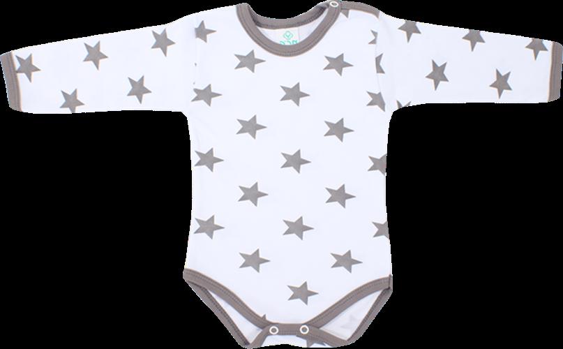 בגד גוף כוכבים אפור