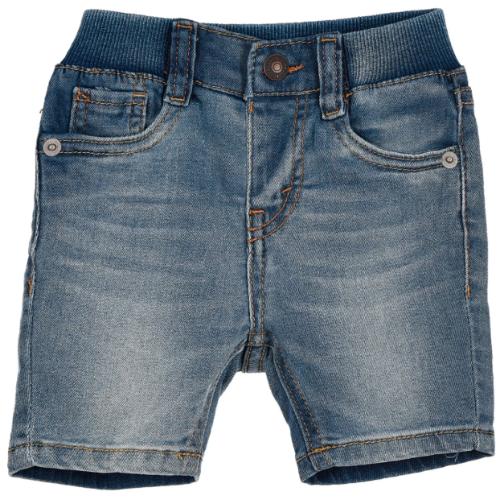 שורט ג׳ינס עם גומי LEVIS תינוקות - מגיל לידה ועד 24 חודשים