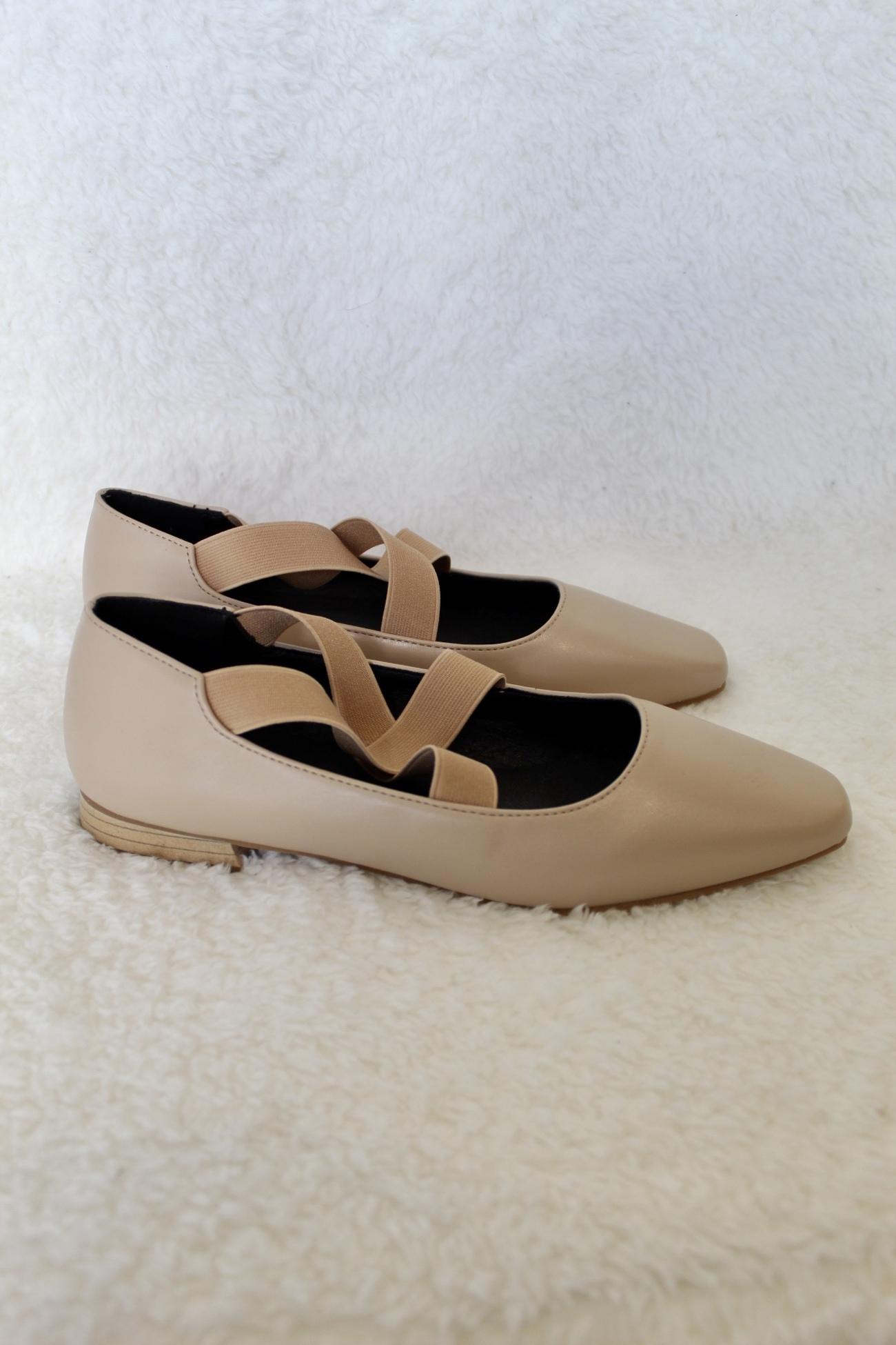 נעלי בלרינה עקב ורוד מט