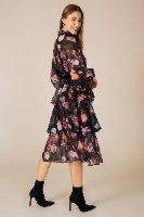 שמלת שיפון ערב קומות פרחים