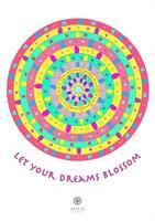 דפי מנדלות לצביעה - LET YOUR DREAM BLOSSOM