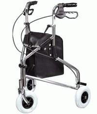 רולטור 3 גלגלים + מעצור יד