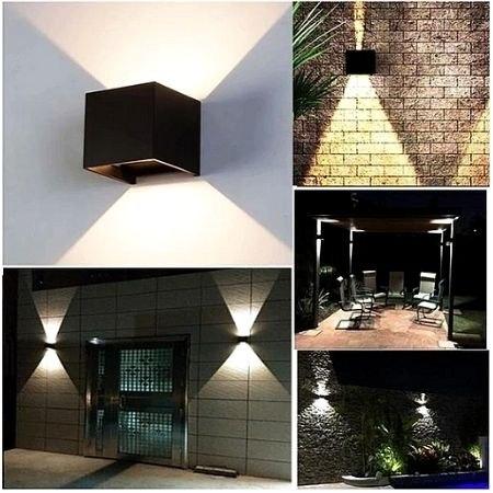 מנורת קיר כפולה מעוצבת