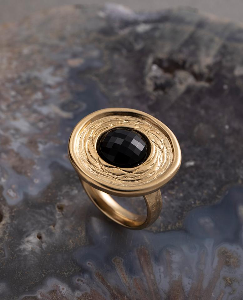 טבעת אספרנסה - פנינה / שחור
