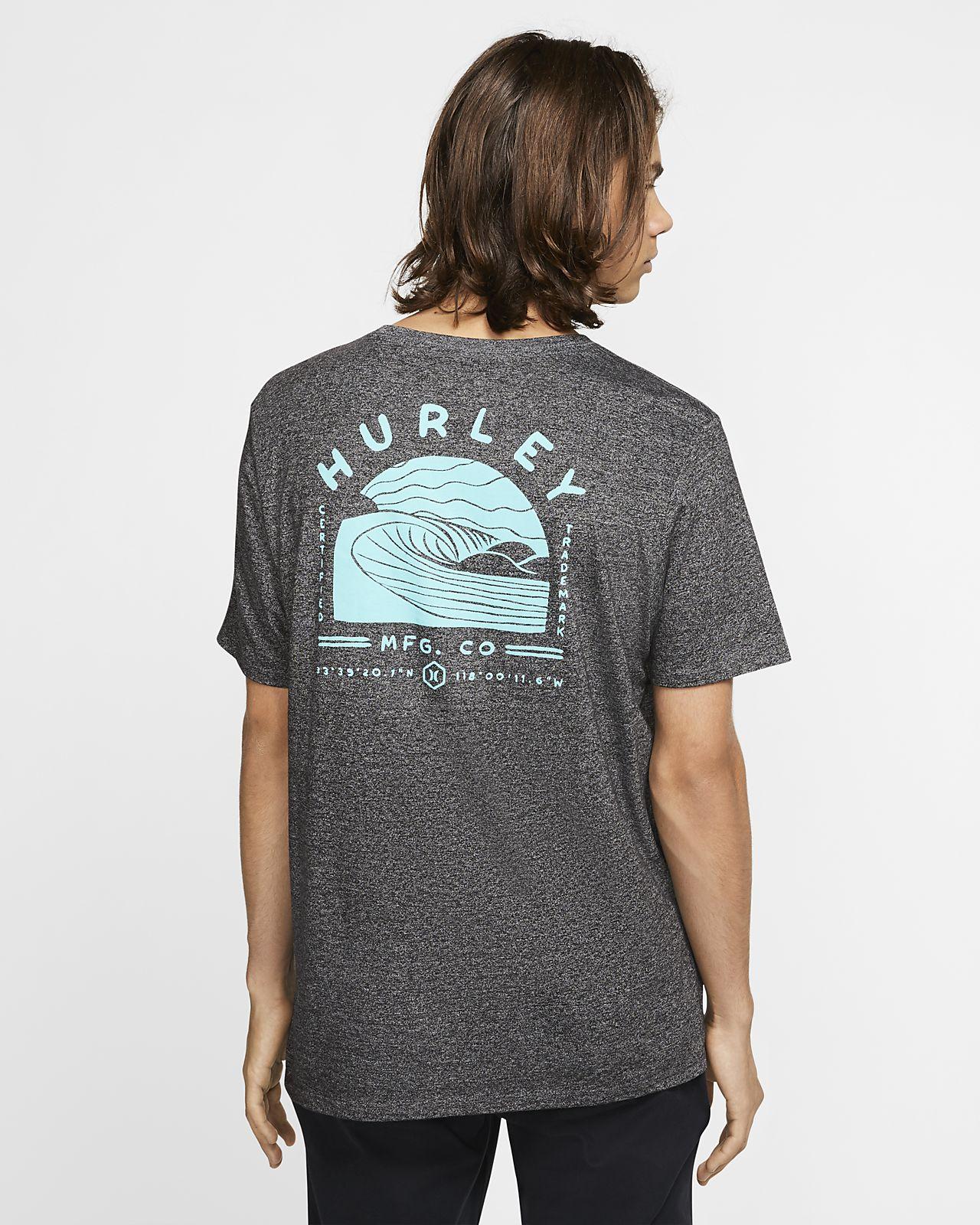 HURLEY  SIRO DAYBREAK T-SHIRT- BLACK HTR