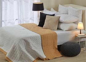 כסוי מיטה יחיד דגם אביב 3 צבעים