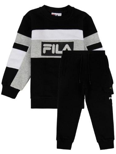 חליפת פוטר בנים שחור/אפור/לבן FILA - מידות NB עד 8 שנים