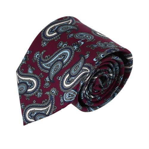 עניבה פייזלי בורדו כהה