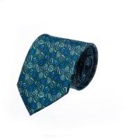 עניבה דגם פלחים ירוק כהה כחול
