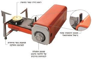 כירת גז מתקפלת קל - גז | אמגזית