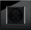 שחור - שקע בודד זכוכית יוקרתי מבית LIVOLO ב-2 גוונים לבחירה