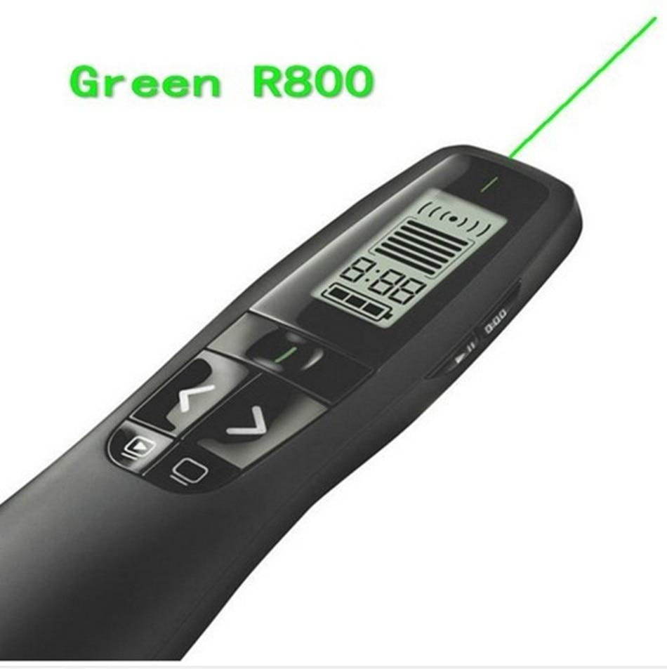 שלט אלחוטי לוגיטק עם קרן לייזר ירוקה