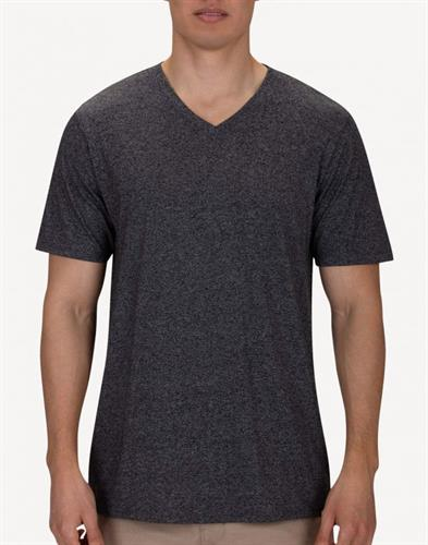 HURLEY Siro Staple V Neck -BLACK  HEATHER