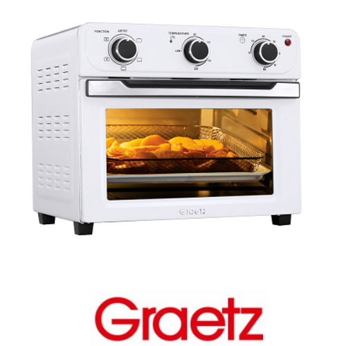 Graetz טוסטר אובן וטיגון ללא שמן דגם OT2299 לבן