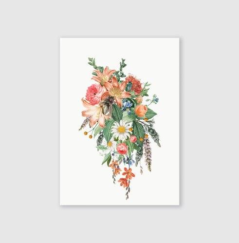 סט גלויות-- פרחים
