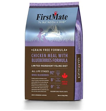 """מזון לחתולים פירסטמייט עוף ואוכמניות 1.8 ק""""ג"""