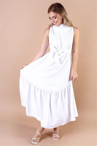 שמלת ערב שירז  לבן