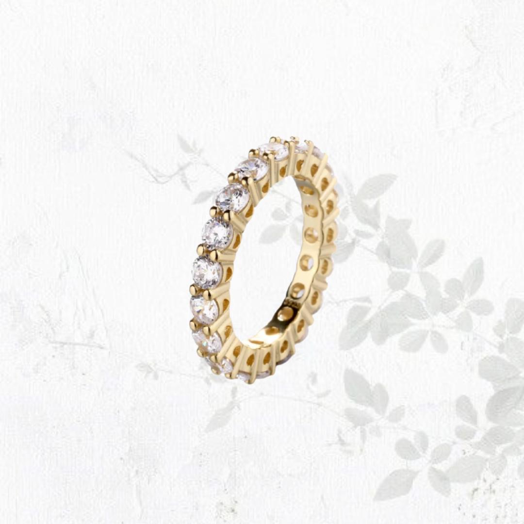 טבעת Ros בציפוי זהב
