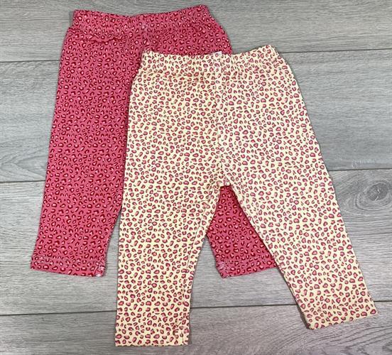 זוג מכנסי לייקרה ארוך מנומר אדום וצהוב