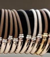צמיד זהב לגבר 14K,צמיד צינור קפיצי לגבר,צמיד מעוצב לגבר