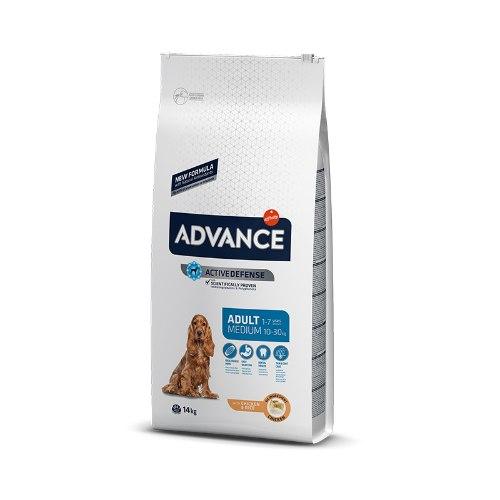 """אדוונס לכלב בוגר מדיום עוף 12 ק""""ג - ADVANCE ADULT MEDIUM CHICKEN 12KG"""