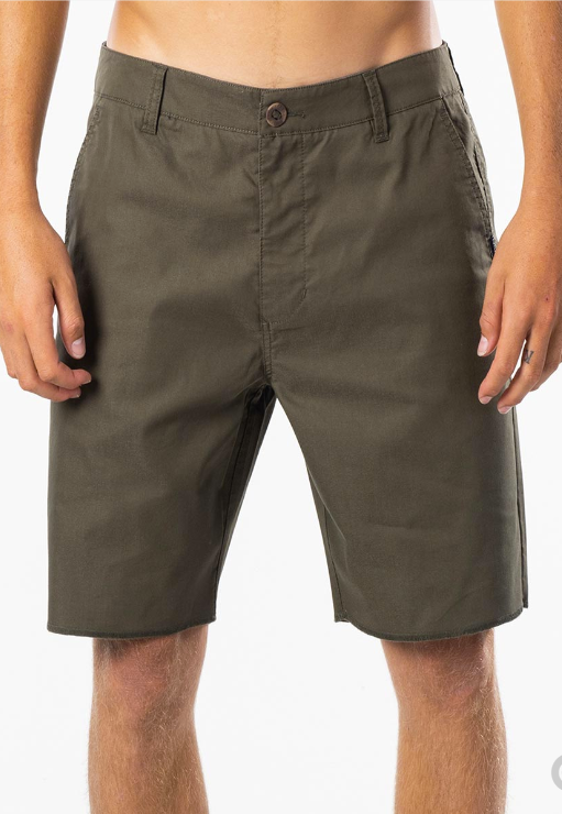 "RIP CURL HITCH 19"" BOARDWALK_DARK OLIVE"
