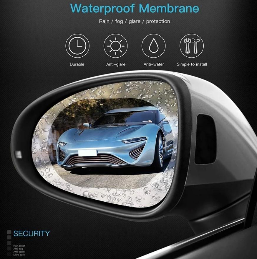 מדבקה להגנת מראות/חלונות הרכב ממים ושריטות