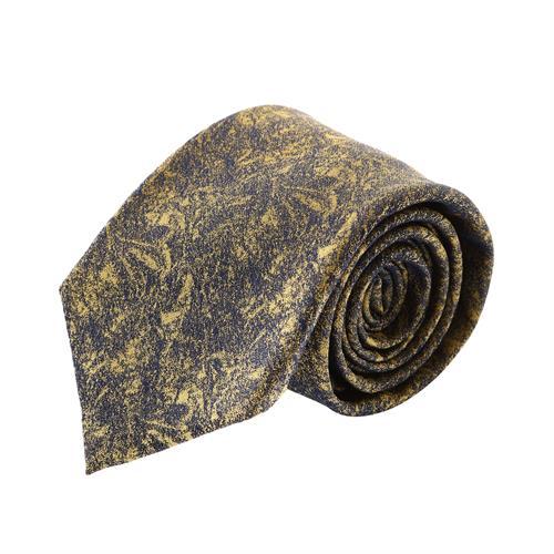 עניבה קלאסית מארבל שחור צהוב