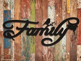 מדבקת FAMILY | משפטי השראה | מדבקות קיר משפטים | מדבקות | מדבקות קיר מעוצבות