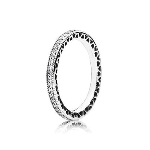 טבעת כסף לבבות PANDORA