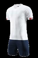 חליפת כדורגל לבן כחול