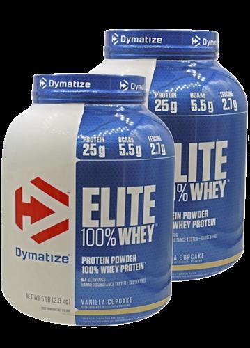 זוג אבקות חלבון Dymatize Elite Whey | דיימטייז עלית 100% מי גבינה