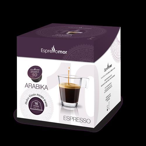 16 קפסולות תואמות דולצה גוסטו Espressomor Arabika Dolce Gusto
