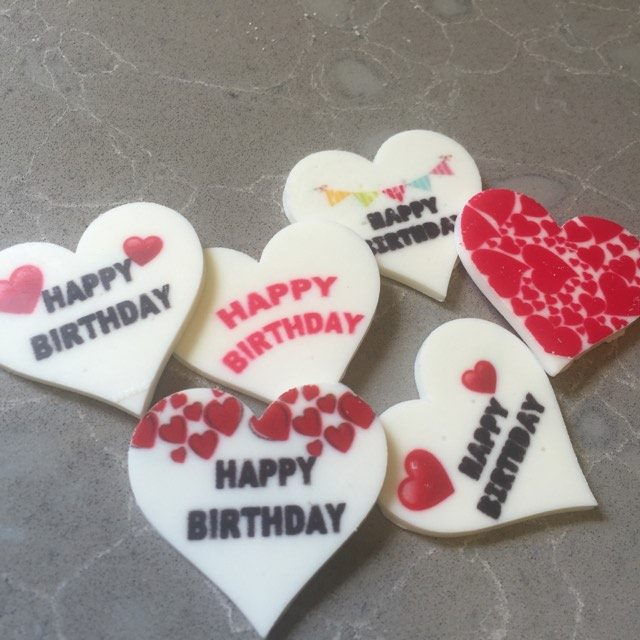 Birthday set to 4 cm round stencil mat Transfer sheet