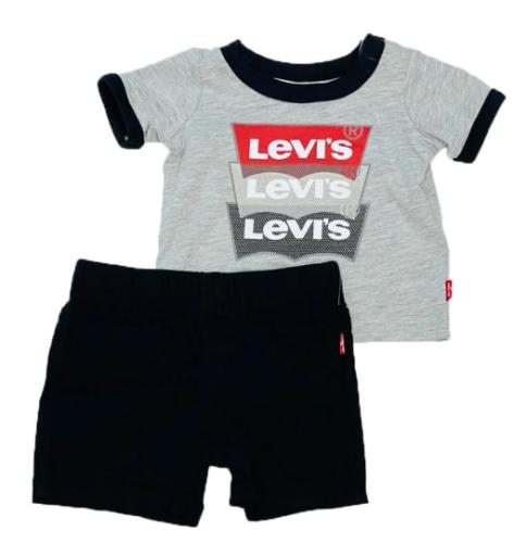 חליפת LEVIS אפור/שחור - 0-9 חודשים